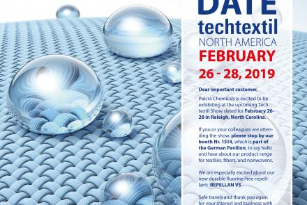 Save the Date - techtextil NORTH AMERICA.